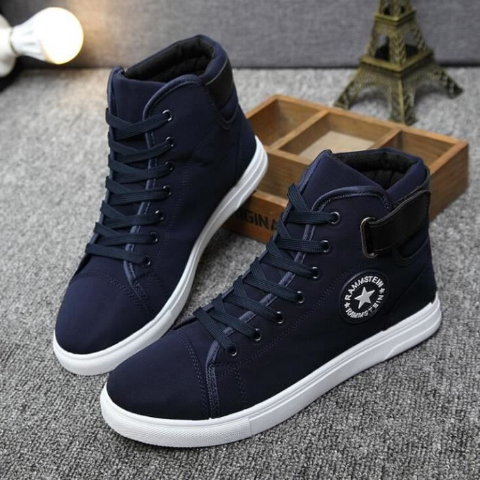 01e6f0d7006075 Chaussures montantes Mode Chaussure Homme Basket Homme Skate Shoes ...