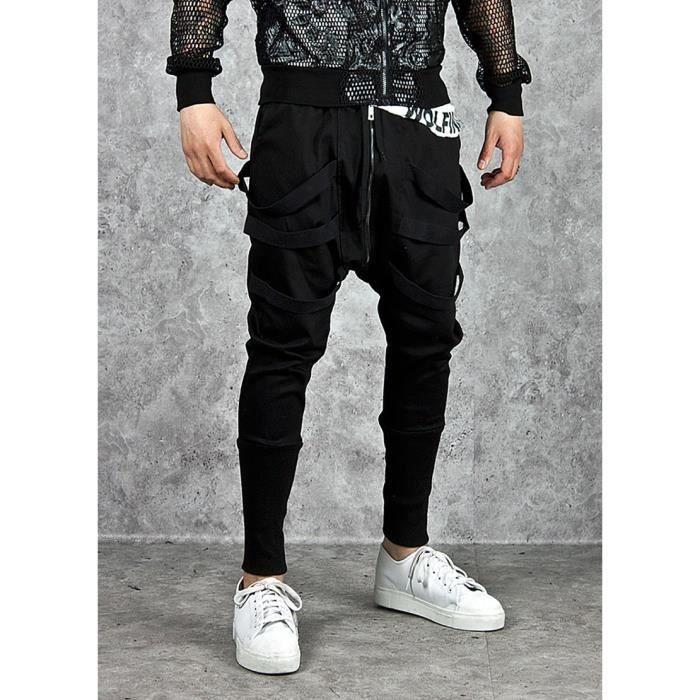 pantalon jogging homme hip hop marque sarouel homme jogger sport homme noir noir achat vente. Black Bedroom Furniture Sets. Home Design Ideas