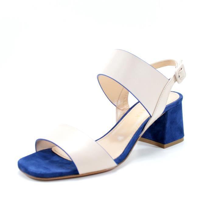 nouveau style vêtements de sport de performance taille 7 Giorgio Rea sandales femmes faits à la main en Italie talon confortable 6  cm. salomés cérémonie de fabrication artisanale partie