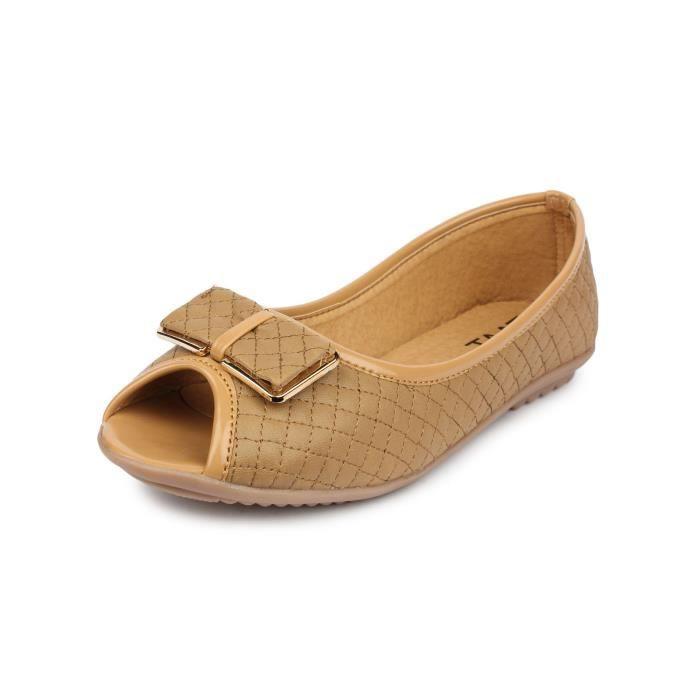 femmes occasionnels en faux cuir plat à bout ouvert officielle et quotidienne porter du ventre chaussure y-39 BGSGX Taille-38 8HYWssnoSi