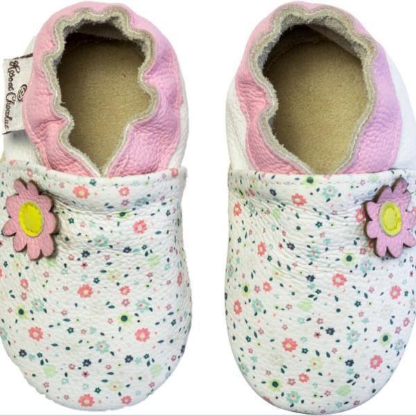 Chaussures en cuir RCC 171 06-01819 Flower Pink White