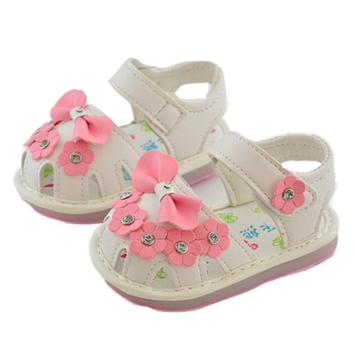 BOTTE Enfants bowknot fille fleur chaussures princesse mode unique chaussures@BlancHM