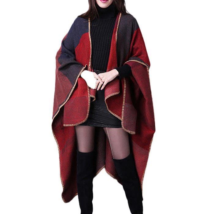 Châle D'hiver Pull Capes Manteau Poncho Tricoté En Femmes Cachemire Cardigans Les xv5wq70BP