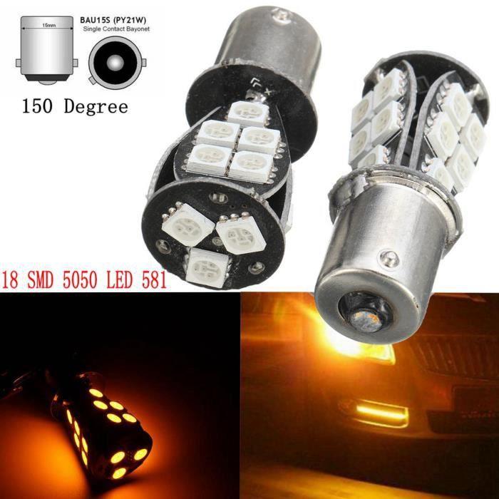 2pcs 18 Bau15s Ampoules Led Smd Neufu Py21w 1156 Indicateur 581 5050 mwv0OnN8