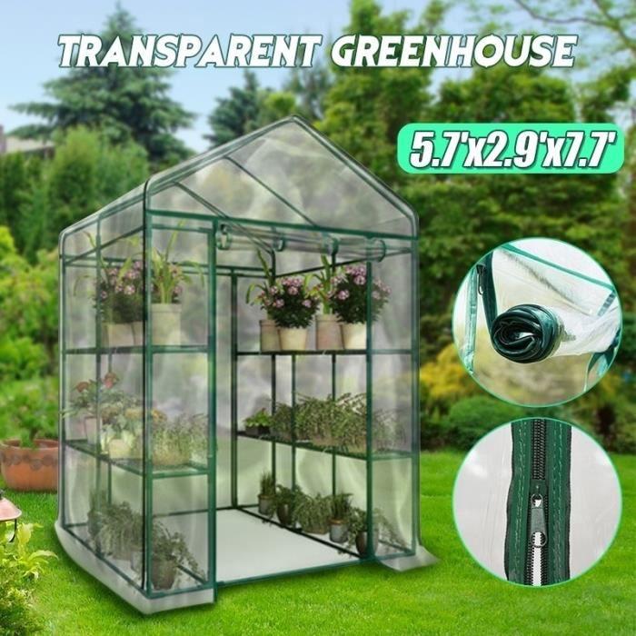 Apex Toit PE Housse Étui à Serre de Jardin Maison Verte Plante ...