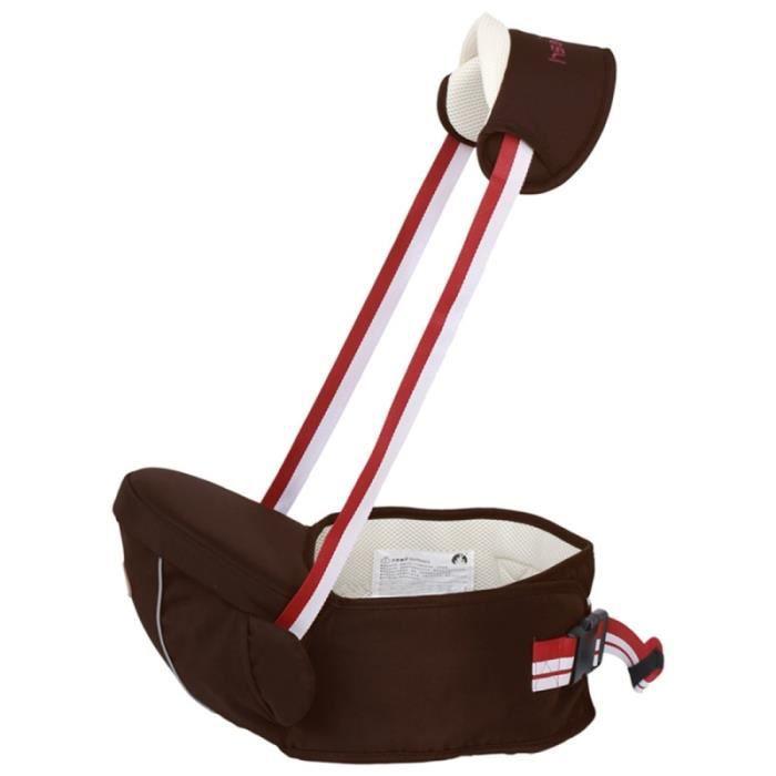 Pour bébé avec bande réfléchissante café Porte-bébé ergonomique avec siège  hanche 0-3 ans Autre 30ecc59bd8e