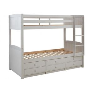 lit superpose blanc achat vente lit superpose blanc pas cher cdiscount. Black Bedroom Furniture Sets. Home Design Ideas
