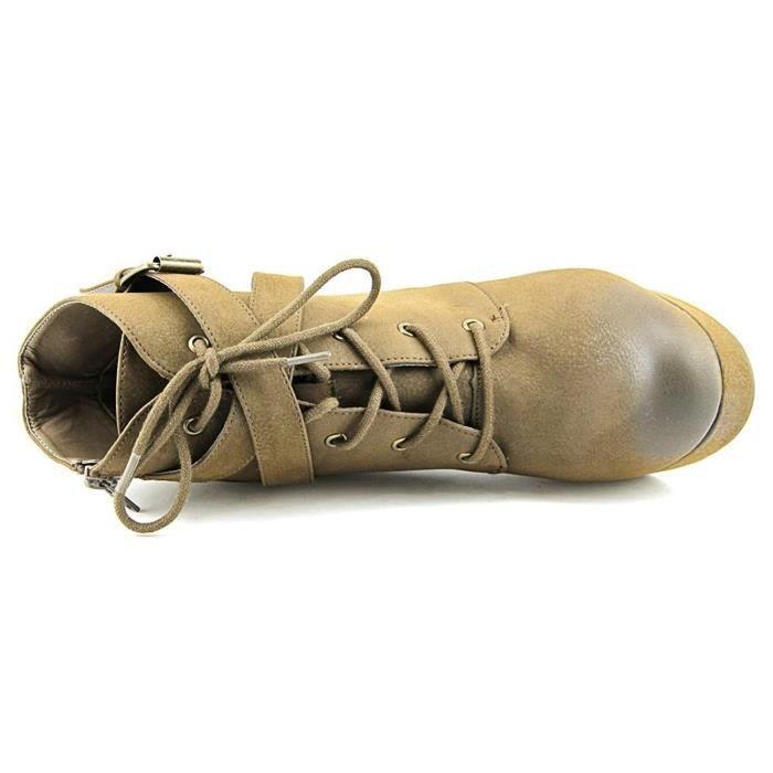 Femmes Rhodes bout fermé bottes plate-forme de cheville C0S7A Taille-36
