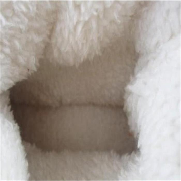 Bottines Femmes Deer Snow Boots hiver Coton-rembourré Chaussures YLG-XZ033Bleu39 CTlHtpjwFp