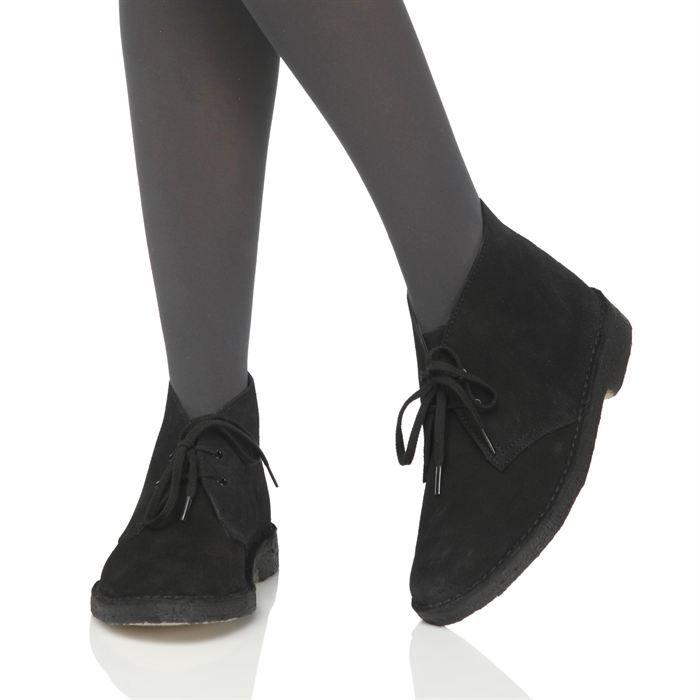414c353a5bb5ac CLARKS ORIGINALS Bottines Desert Boot Femme femme Noir - Achat ...