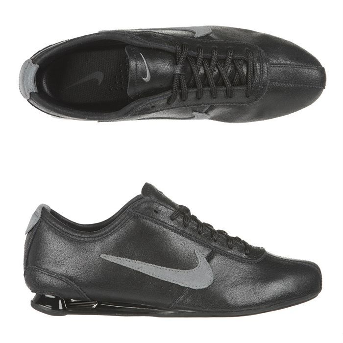 nike baskets cuir shox rivalry homme homme noir et gris achat vente nike shox rivalry homme. Black Bedroom Furniture Sets. Home Design Ideas