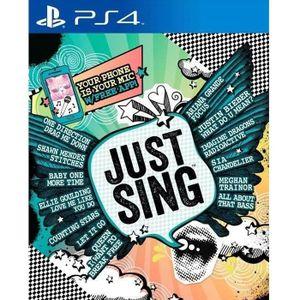 JEU PS4 Just Sing Jeu PS4