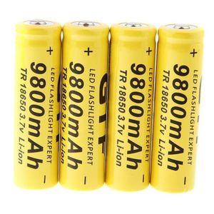 BATTERIE DOMOTIQUE 4 Piles Li-ion Rechargeables 18650 9800mAh 3.7V 12