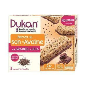 BARRE DE CEREALE DUKAN Barres de son d'avoine chocolat aux graines