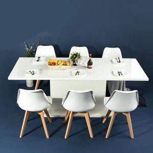 CONSOLE EXTENSIBLE FurnitureR Table à Manger Extensible de 6 à 8 Pers
