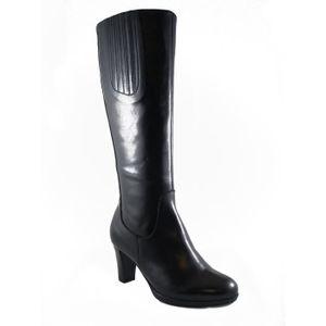 BOTTE Soffice Sogno-Femme chaussure en cuir noir, talon