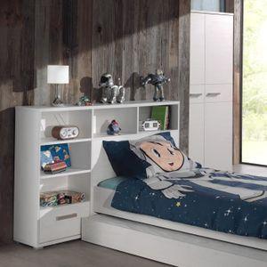 tete de lit enfant avec rangement achat vente tete de lit enfant avec rangement pas cher. Black Bedroom Furniture Sets. Home Design Ideas