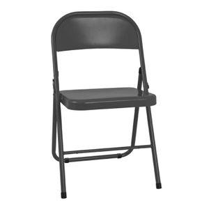 chaise pliante metal achat vente pas cher. Black Bedroom Furniture Sets. Home Design Ideas