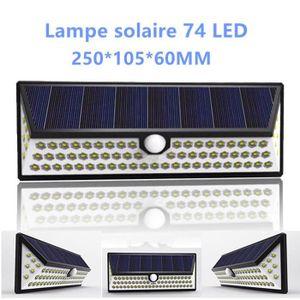 APPLIQUE  Lampe solaire 74 LED extérieure étanche IP65 sans