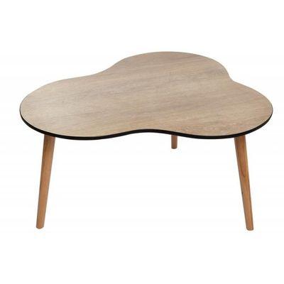 Table Basse Vintage Bois Naturel Trépied Design Nuage Fifty