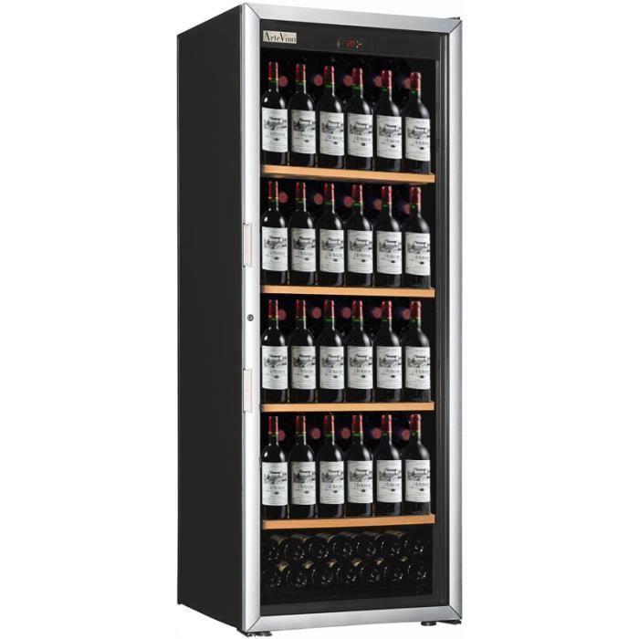 cave à vin de service - multi-températures - 150 bouteilles - noir
