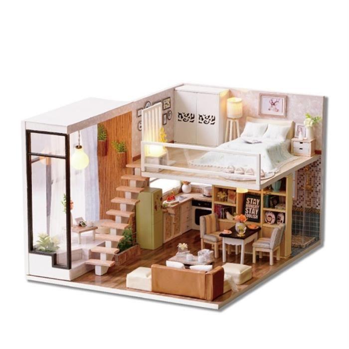 Maison De Poupée Miniature Bricolage Maison Kit éducatif à La Main