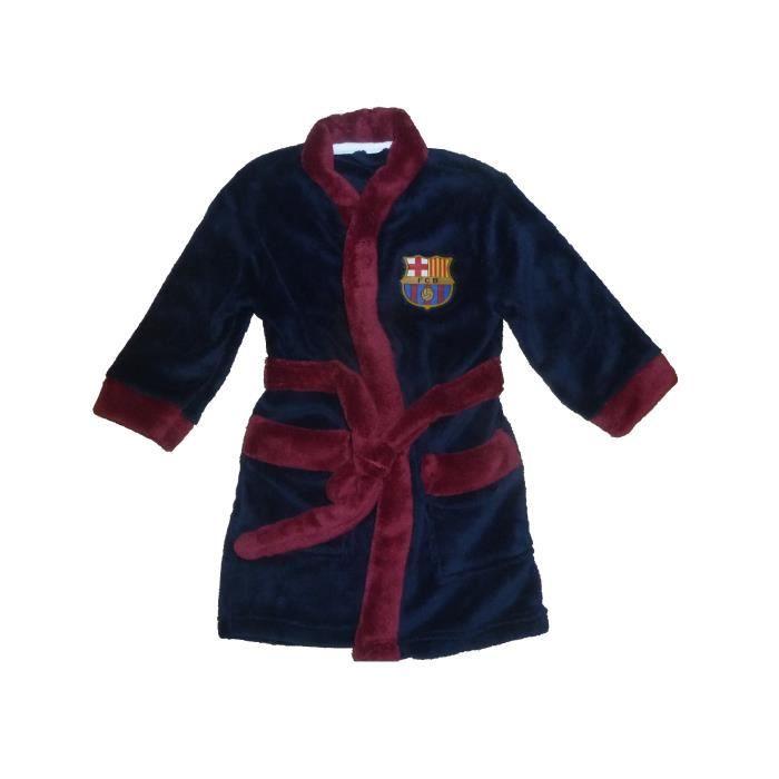 76ed2f2ab9d22 Robe de chambre peignoir enfants FC Barcelone sur pyjama logo FCB ...