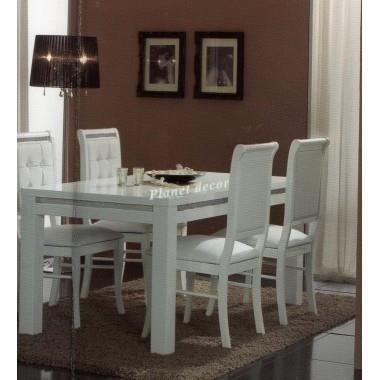Table salle à manger PRESTIGE 190 cm blanc - Achat / Vente table à ...