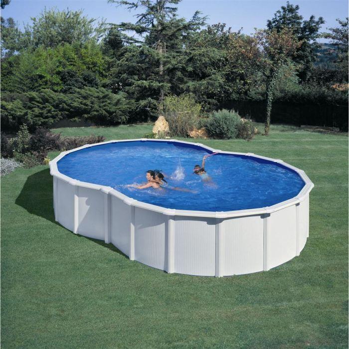 piscine acier ovale en forme de 8 achat