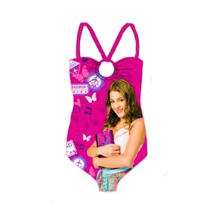 Disney maillot de bain 1 pi ce violetta rose pour fille - Jeux de fille de violetta ...