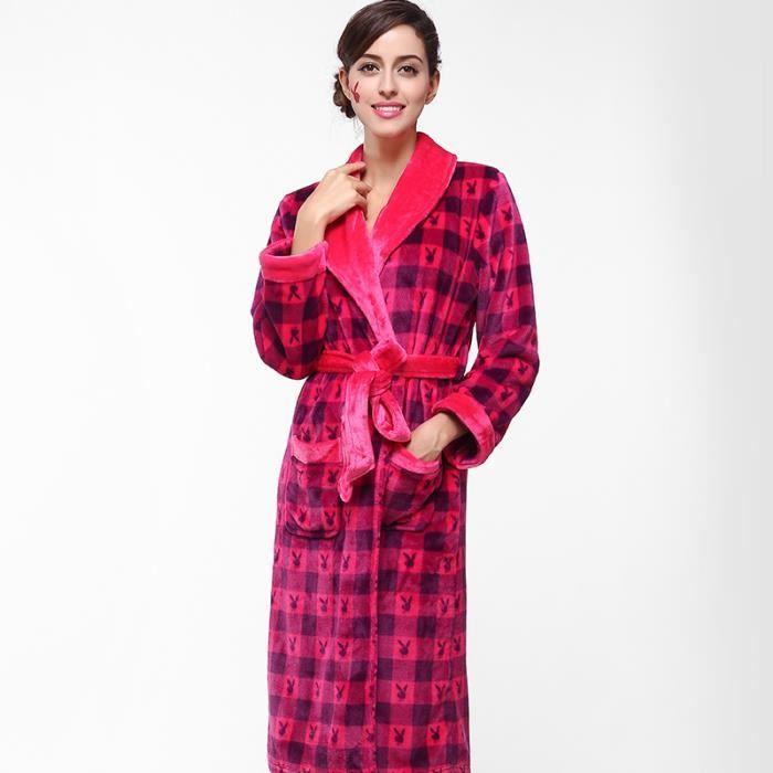 Robe Chambre Femme Achat Adulte Rouge Lapins Playboy De Polaire 3j5A4RL
