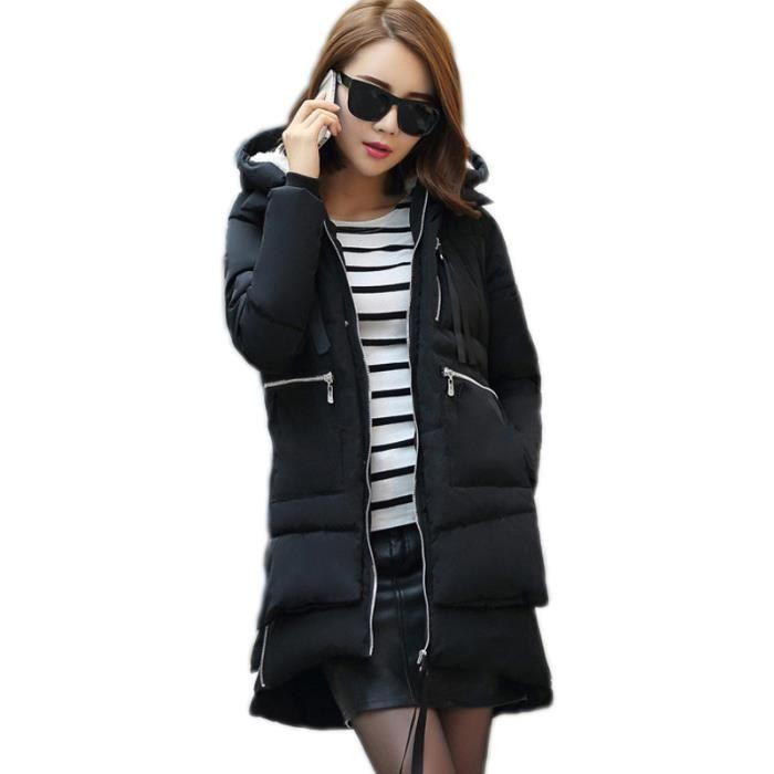 los angeles latest fashion price reduced Fille Doudoune Parka Veste Capuche Manteau Longue Blouson Fausse Fourrure  Chaud Hiver