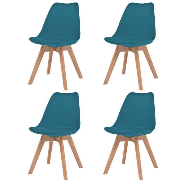 De Massif 4 Chaises Manger Contemporain Salle Chaise À Style Scandinave Lot Pcs Similicuir Turquoise Bois Cuisine dCxrQoeEWB