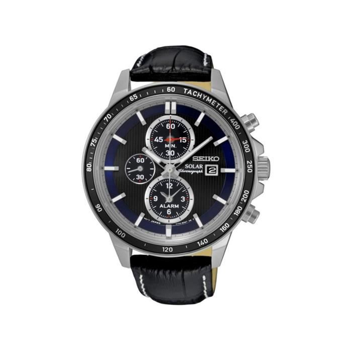 Homme Chronographe Montre Ssc437p1 Solaire Seiko m0OwnyNv8