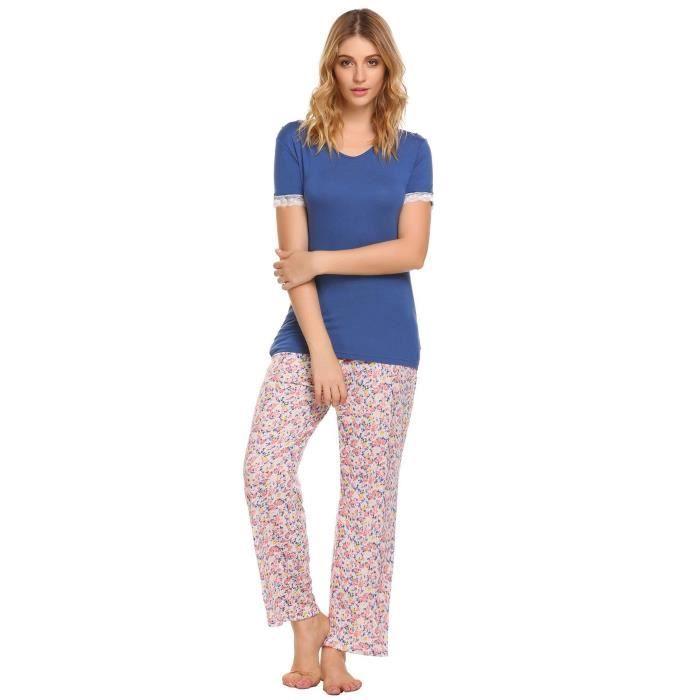 Manches 1kg9st Ensembles Vrac 36 Nuit Floraux Hauts Taille Pantalons Et De En À Pyjama Vêtements q4pSn