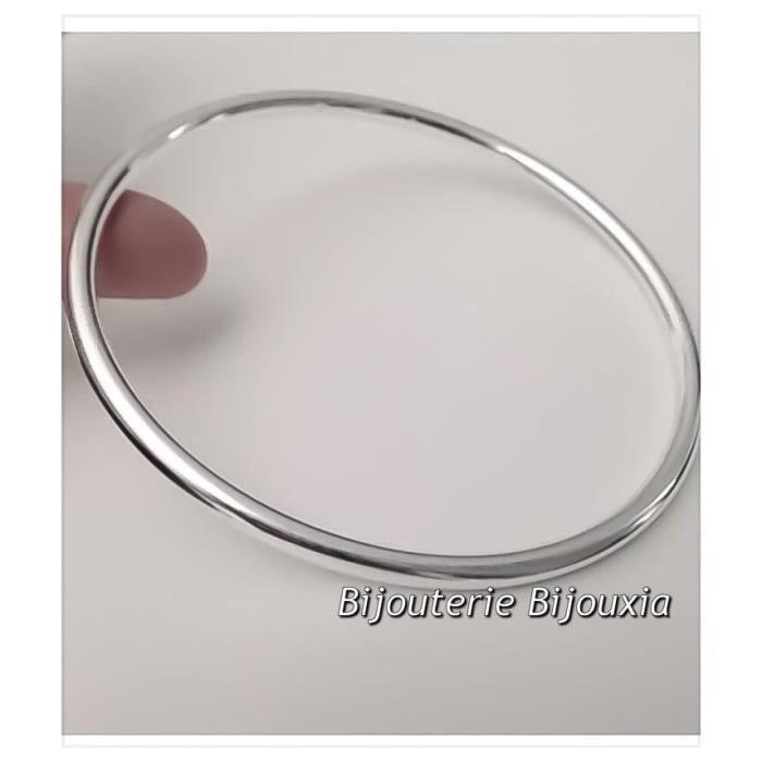 Bracelet Jonc Épais Argent Massif 925/000 Poinçoné Bijoux Femme