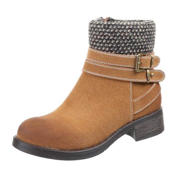 Chaussures femmes Bottine DOUBLÉ utilise l'optique bottes marron