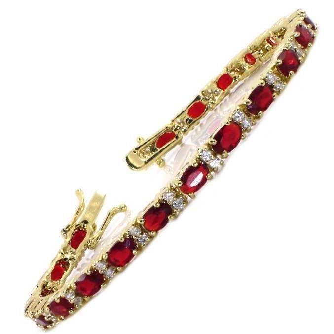 BestOfBijoux® Noémie -Tennis Bracelet - Bracelet Femme - Oxyde de Zirconium [18cm/7inch]
