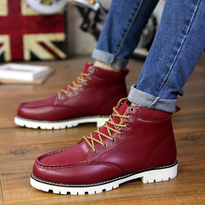 Chaussures homme Bottes hiver Bottes courtes Chaussures étanches Bottes mode Chaussures chaudement Chaussures montantes Chaussures h12z8t