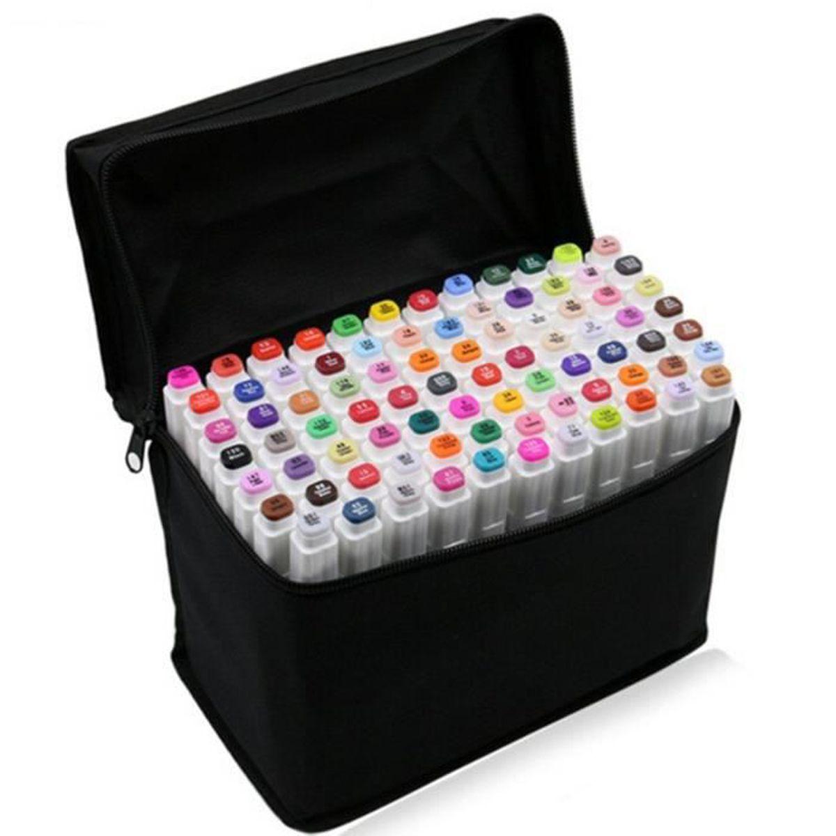Coloriage Adulte Batiments.80 Couleurs Coloriage Stylos Croquis Marqueurs A Double Pointe A