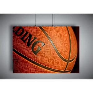 AFFICHE - POSTER Poster BASKETBALL MACRO SPORT CLASSIC HUGE Wall ar