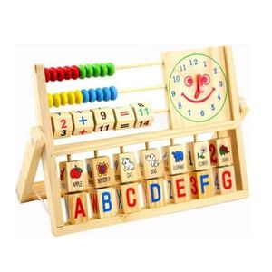 TABLE JOUET D'ACTIVITÉ jeu jouet éducatifs 3 en 1 Horloge Alphabet Abaque