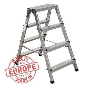 Fabriqu/é en Europe Norme EN131 Nawa Escabeau aluminium 2 marches ultra l/éger