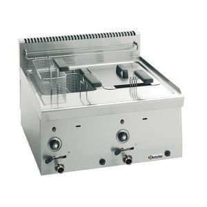 FRITEUSE ELECTRIQUE Friteuse professionnelle gaz à poser 2 cuves 8L