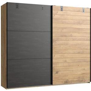 ARMOIRE DE CHAMBRE Armoire design 2 portes coulissantes Imitation che
