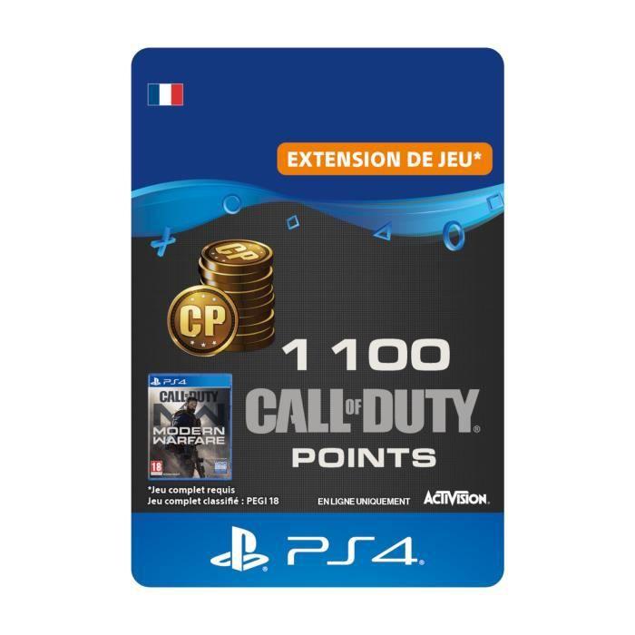 1100 Call of Duty®: Modern Warfare® Points - Code de Téléchargement pour PS4
