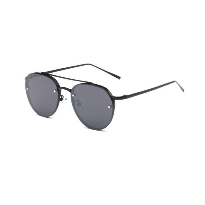 YKS fashion Colorful lunettes de soleil pièce océan cerclées drap noir et gris