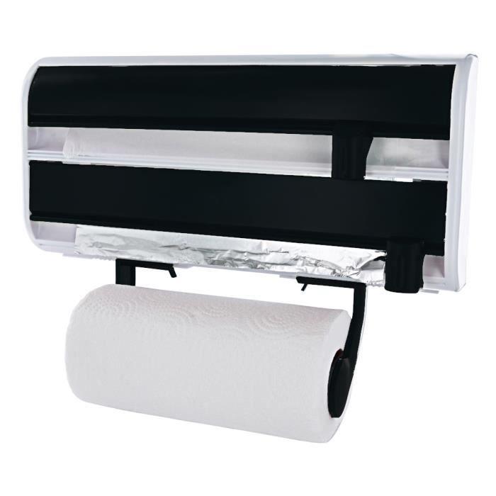 d rouleur 3 rouleaux mural noir achat vente d vidoir essuie tout d rouleur 3 rouleaux mural. Black Bedroom Furniture Sets. Home Design Ideas