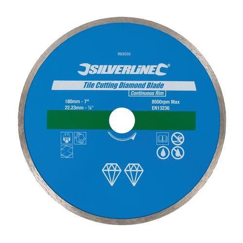 disque diamant jante continue pour coupe carrelage 180 x