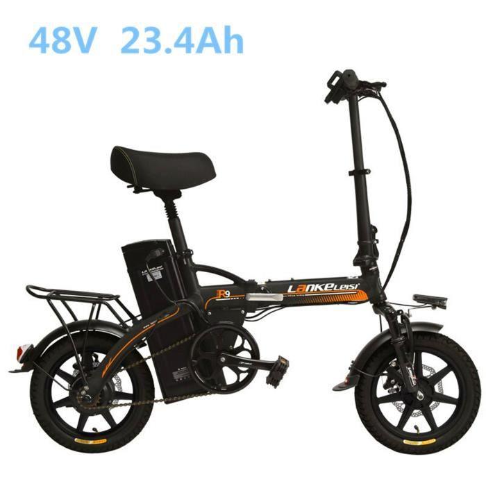 131dbb5203977 KIT VÉLO ÉLECTRIQUE R9 240W Portable 14 pouces se pliant la bicyclette